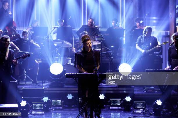 Episode 1132 -- Pictured: Musical guest Angel Olsen performs on October 3, 2019 --