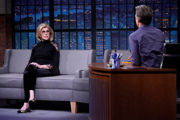 "NY: NBC'S ""Late Night With Seth Meyers"" With Guests Christine Baranski, Melissa Villaseñor (Band Sit-In: Emmanuelle Caplette)"