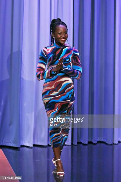 Actress Lupita Nyong'o arrives to the show on October 7 2019