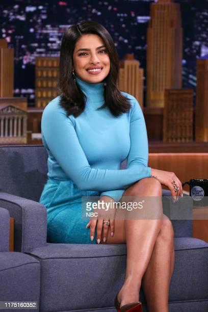 Episode 1138 -- Pictured: Actress Priyanka Chopra Jonas during an interview on October 10, 2019 --
