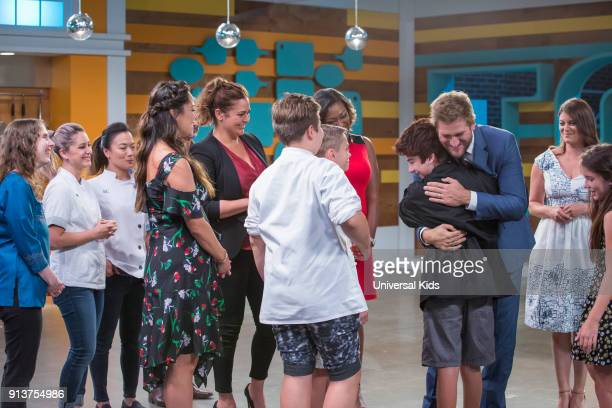 JUNIOR Episode 114 Finale Pictured Guest Chef Brooke Willamson Guest Chef Shirley Chung Host Vanessa Lachey Guest Judge Antonia Lofaso Winner of Top...