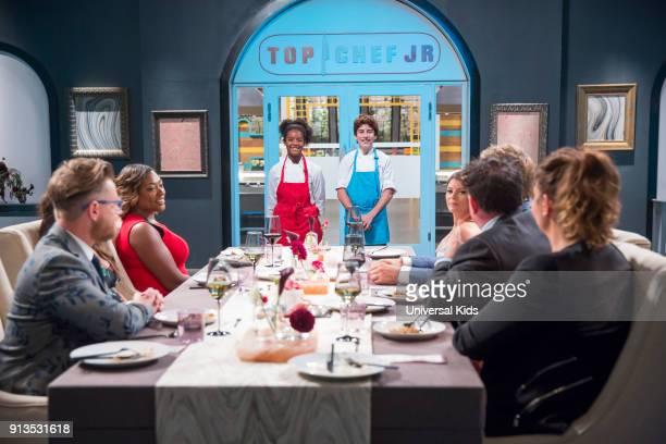 JUNIOR Episode 114 'Finale' Pictured Guest Judge Richard Blais Guest Judge Tiffany Derry Chefs Rahanna Martinez Owen Pereira Guest Judge Gail Simmons