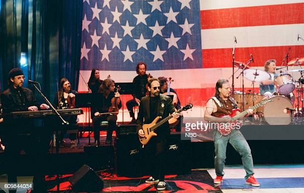 Bruce Kulick Mel Schacher Mark Farner and Don Brewer of Grand Funk Railroad on May 2 1997