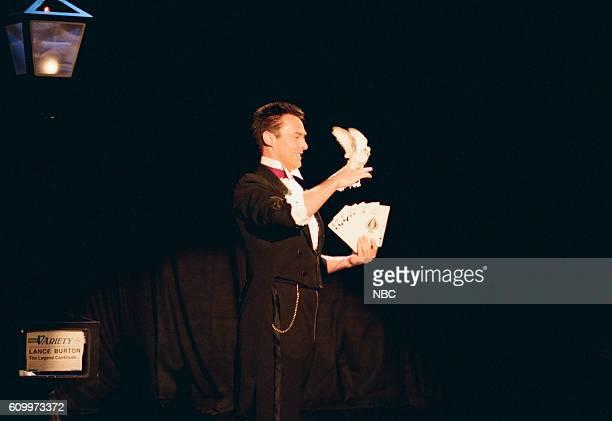 Magician Lance Burton performs during a magic segment on May 5 1997