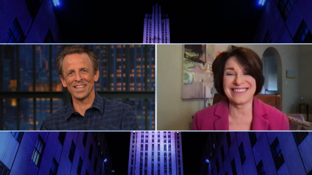 """NY: NBC'S """"Late Night With Seth Meyers"""" With Guests Sen. Amy Klobuchar, Robin Thede, Ryan Hurd w/ Maren Morris (Band Sit-In: Mario Duplantier)"""