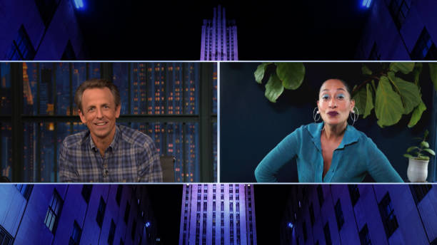 "NY: NBC'S ""Late Night With Seth Meyers"" With Guests Tracee Ellis Ross, Paula Pell"
