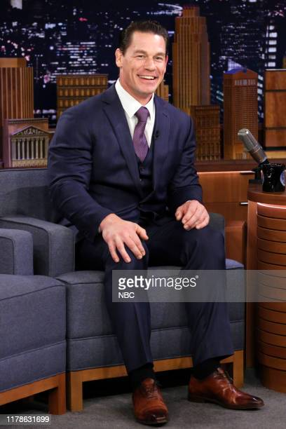 Episode 1144 -- Pictured: Actor John Cena during an interview on October 27, 2019 --
