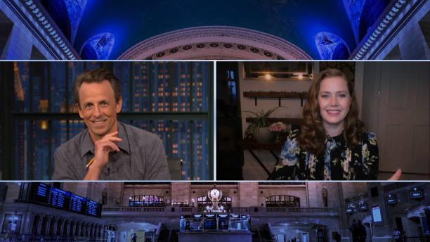 """NY: NBC'S """"Late Night With Seth Meyers"""" With Guests Amy Adams, Stacey Abrams, ASHE"""