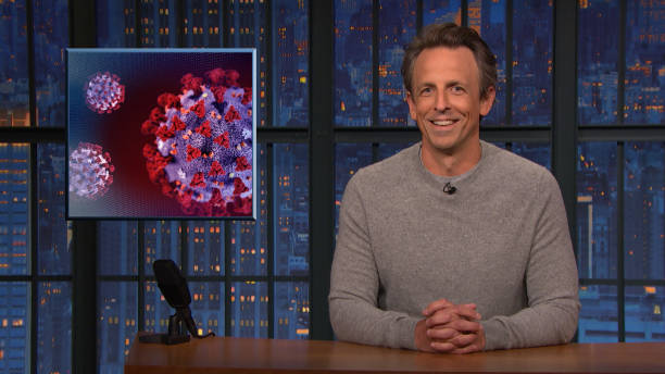 """NY: NBC'S """"Late Night With Seth Meyers"""" With Guests Anthony Mackie, Jean Smart"""