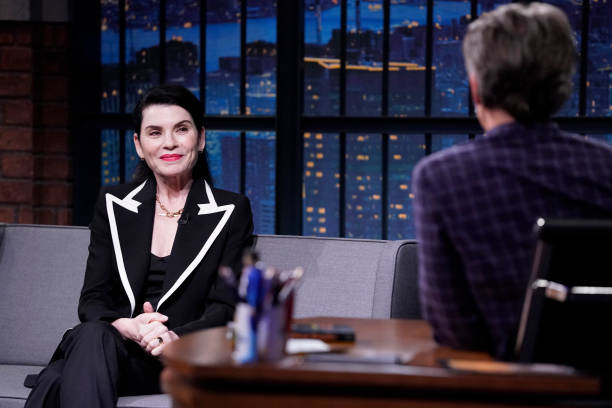 """NY: NBC'S """"Late Night with Seth Meyers"""" With Guests Julianna Margulies, Josh Duhamel, ALAINA CASTILLO (Band Sit-In: Brian Frasier-Moore)"""