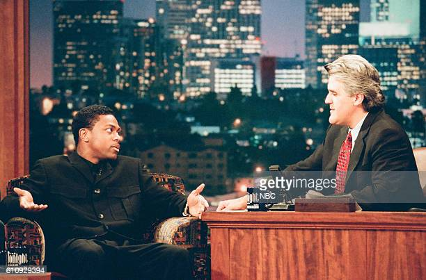 Comedy actor Chris Tucker during an interview with host Jay Leno on May 16 1997
