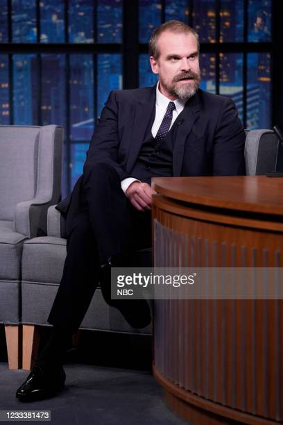 Episode 1158 -- Pictured: Actor David Harbour during an interview on June 10, 2021 --