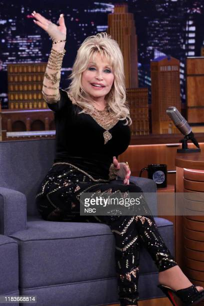 Episode 1160 -- Pictured: Singer Dolly Parton during an interview on November 20, 2019 --