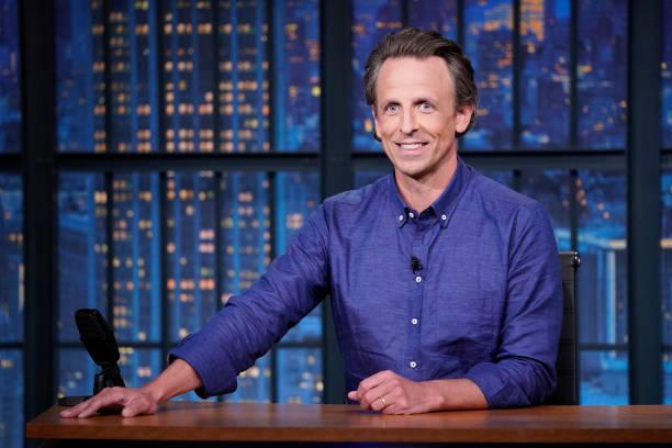 "NY: NBC'S ""Late Night With Seth Meyers"" With Guests Salma Hayek, Jacqueline Novak"