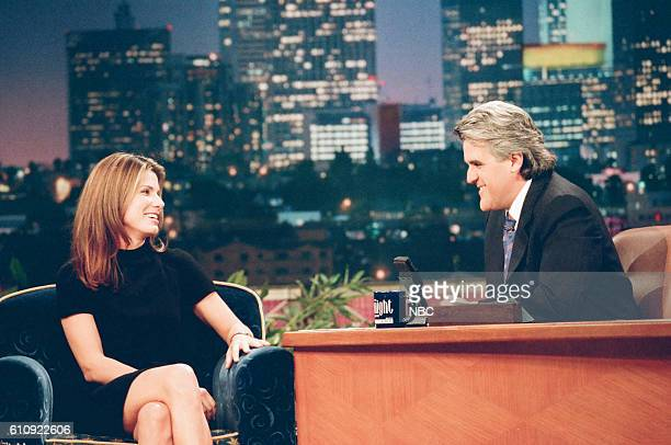 Actress Sandra Bullock during an interview with host Jay Leno on June 9 1997