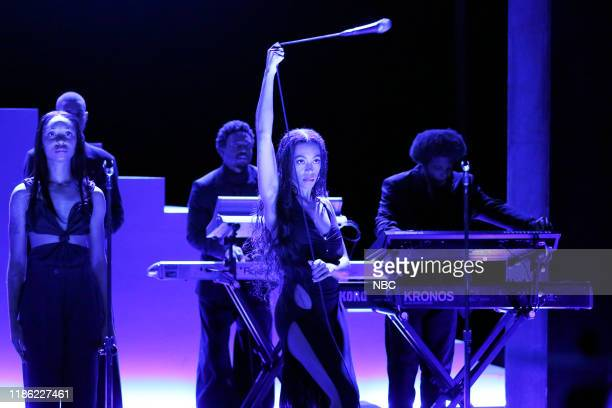Episode 1168 -- Pictured: Musical guest Solange performs on December 2, 2019 --