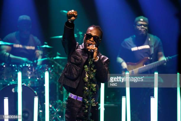 Musical guest Burna Boy performs on December 3 2019