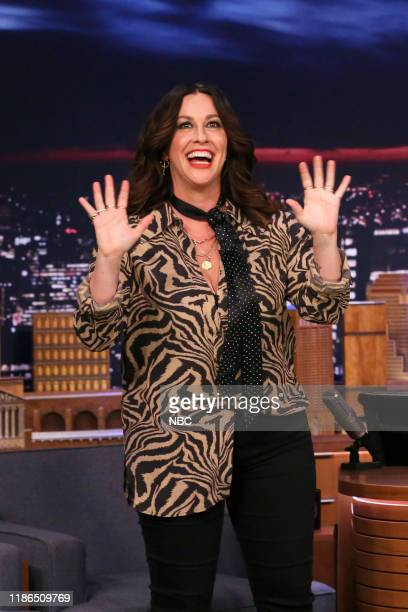 Episode 1170 -- Pictured: Musician Alanis Morissette arrives to the show on December 4, 2019 --