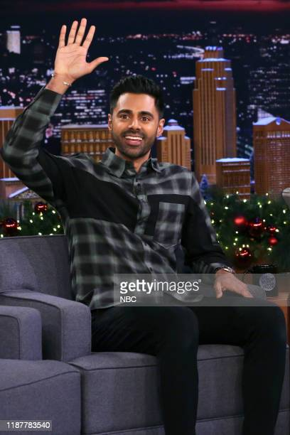 Episode 1173 -- Pictured: Comedian Hasan Minhaj during an interview on December 10, 2019 --