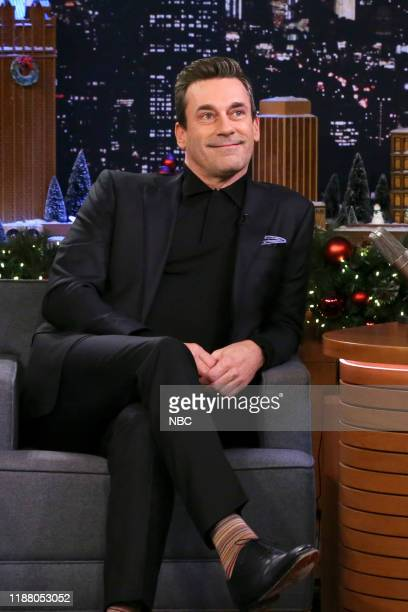 Episode 1174 -- Pictured: Actor Jon Hamm during an interview on December 11, 2019 --