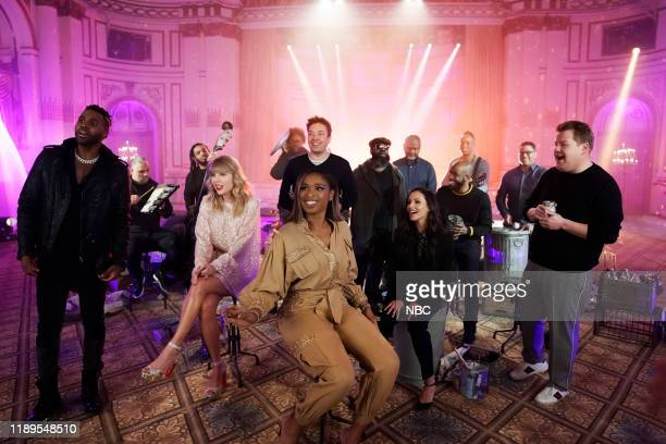 Jason Derulo Taylor Swift Jennifer Hudson Host Jimmy Fallon Francesca Hayward and James Corden during Cats 'Memory' Remix on December 18 2019