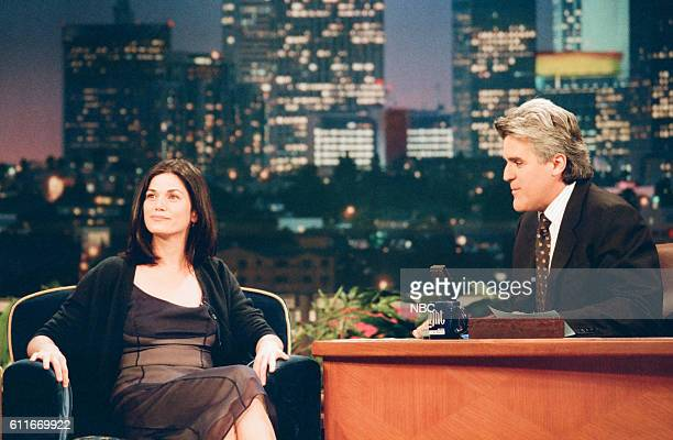 Actress Linda Fiorentino during an interview with host Jay Leno on July 8 1997