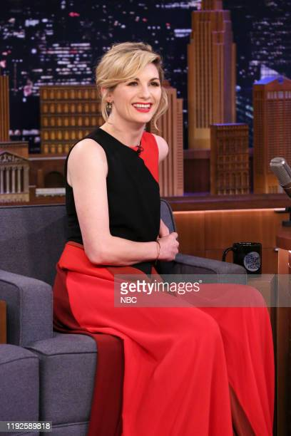 Episode 1183 -- Pictured: Actress Jodie Whittaker during an interview on January 8, 2020 --