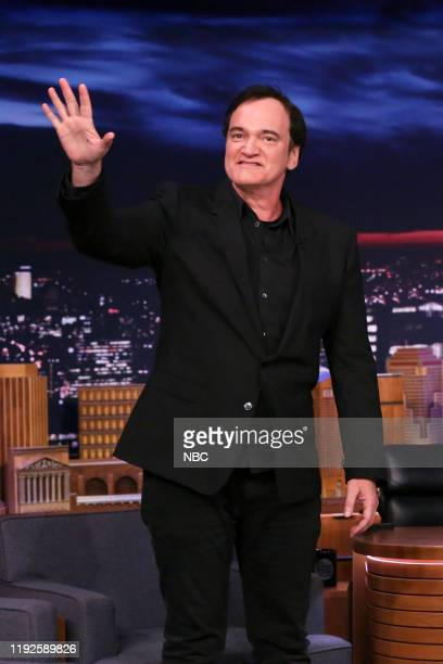 Episode 1183 -- Pictured: Film director Quentin Tarantino arrives to the show on January 8, 2020 --