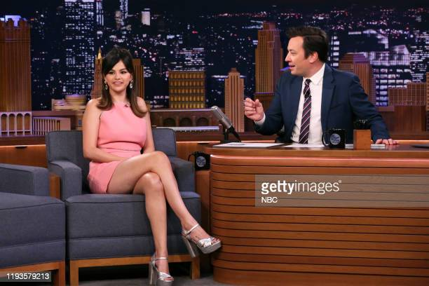 Actress Selena Gomez during an interview with host Jimmy Fallon on January 13 2020