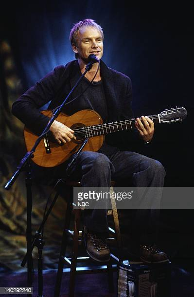 BRIEN Episode 1189 Air Date Pictured Musical guest Sting performs on November 22 1999 Photo by NBCU Photo Bank