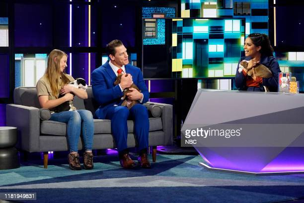 Episode 119 -- Pictured: Bindi Irwin, John Cena, Lilly Singh --