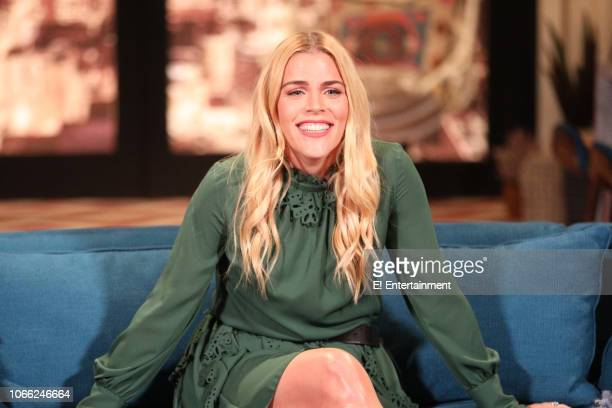 Busy Philipps on the set of Busy Tonight