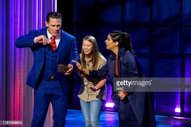 Episode 119 -- Pictured: John Cena, Bindi Irwin, Lilly Singh --