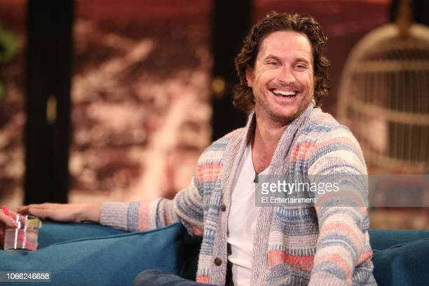 Oliver Hudson on the set of Busy Tonight