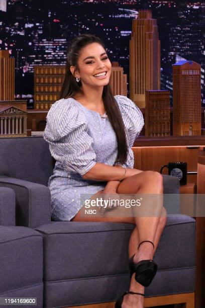 Actress Vanessa Hudgens during an interview with host Jimmy Fallon on January 17 2020