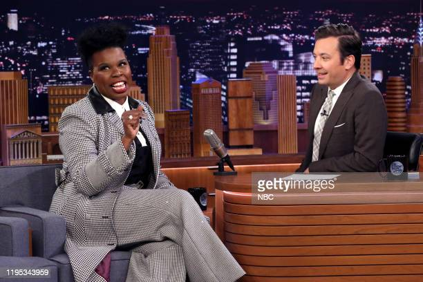 Comedian Leslie Jones during an interview with host Jimmy Fallon on January 22 2020