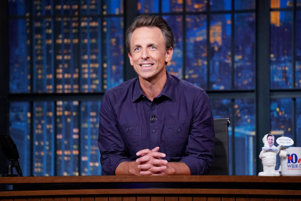 """NY: NBC'S """"Late Night With Seth Meyers"""" With Guests Bill Burr, Keith Morrison, Abby McEnany (Band Sit-In: Andē)"""
