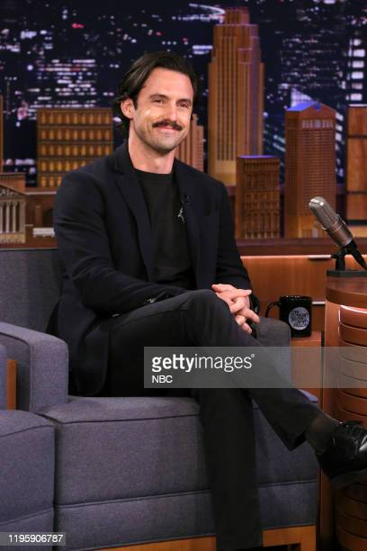 Episode 1195 -- Pictured: Actor Milo Ventimiglia during an interview on January 24, 2020 --