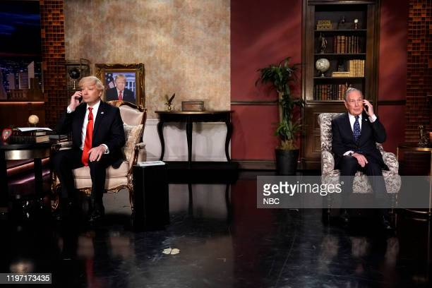 Host Jimmy Fallon as Donald Trump and presidential candidate Michael Bloomberg during Trump/Bloomberg Phone Call on January 28 2020