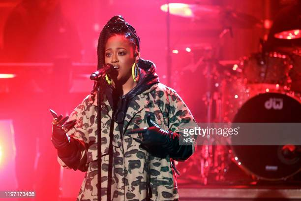 Musical guest Rapsody featuring PJ Morton performs on January 28 2020