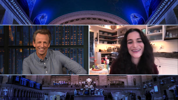 """NY: NBC'S """"Late Night With Seth Meyers"""" With Guests Ike Barinholtz Jenny Slate Band Sit-In: Andē"""
