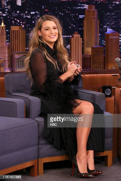 Actress Blake Lively during an interview on January 29 2020