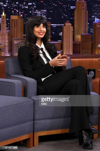 Episode 1198 -- Pictured: Actress Jameela Jamil during an interview on January 29, 2020 --