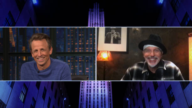 """NY: NBC'S """"Late Night with Seth Meyers"""" With Guests Billy Bob Thornton, Miriam Margolyes (Band Sit-In: Nick Baglio)"""