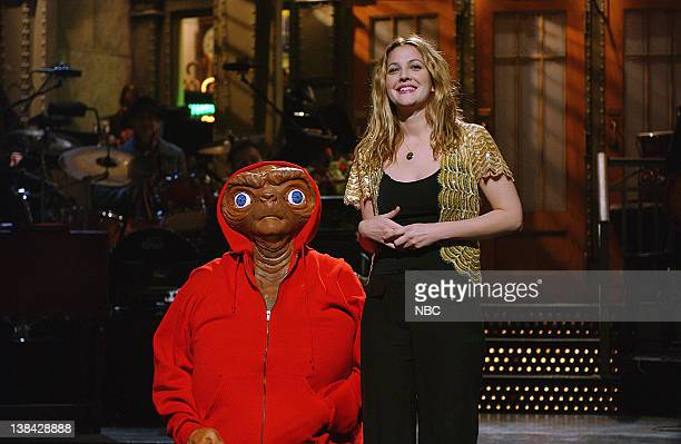 LIVE Episode 12 Air Date Pictured Will Forte as ET host Drew Barrymore during the monologue on February 14 2004
