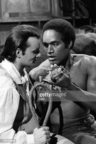 LIVE Episode 12 Aired Pictured Bill Murray as farmer OJ Simpson as Mandingo during the Mandingo II skit on February 25 1978