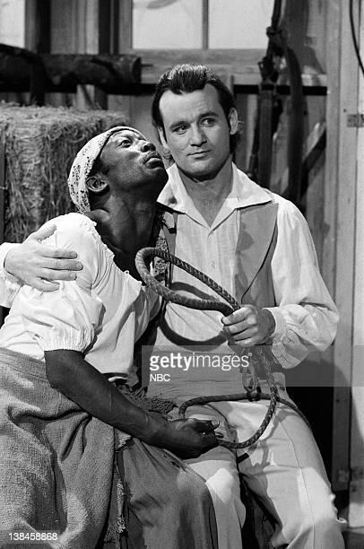 LIVE Episode 12 Aired Pictured Garrett Morris as farmer Bill Murray as farmer during the Mandingo II skit on February 25 1978