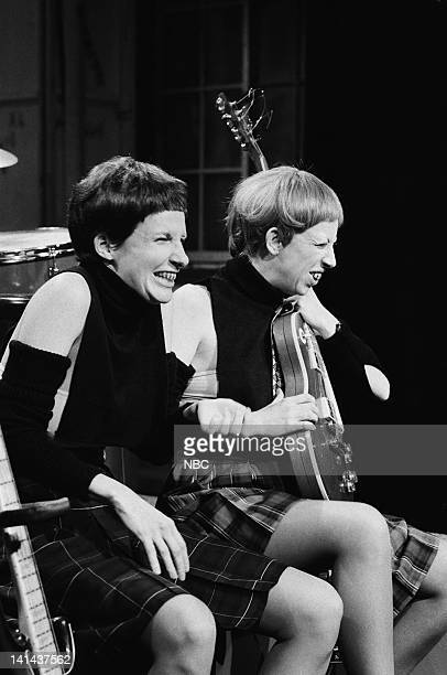 Mary Gross as Ugly Sister Step Robin Duke as Prunella during the 'MTV News' skit on February 11 1984 Photo by Al Levine/NBC/NBCU Photo Bank