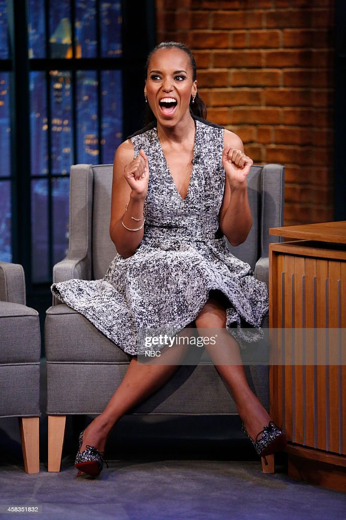 Actress Kerry Washington during an interview on November 03, 2014 --