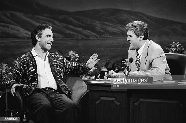 Radio talk show host Jay Thomas during an interview with host Jay Leno on December 1 1992